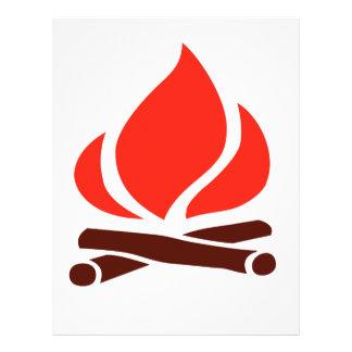 hot fire in fireplace letterhead