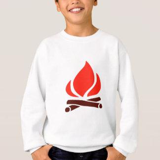 hot fire in fireplace sweatshirt