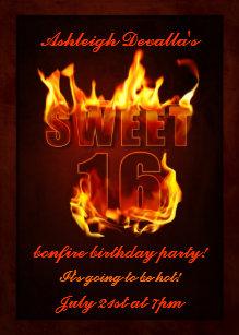 bonfire party invitations announcements zazzle ca