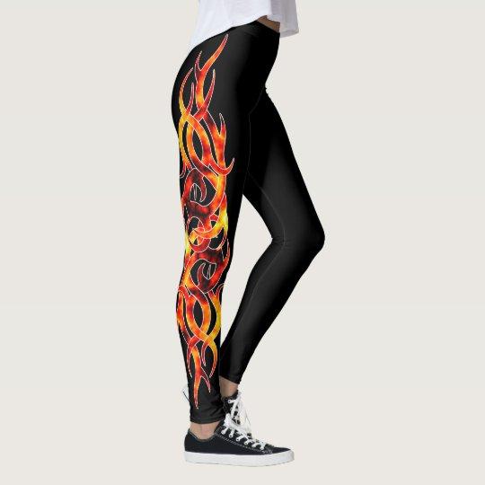 """Hot Flame"" Tattoo Effect Leggings"