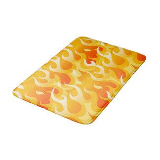 Hot flames bath mat
