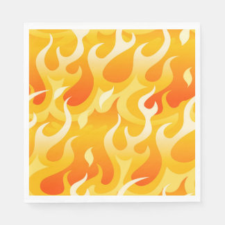 Hot flames disposable napkin