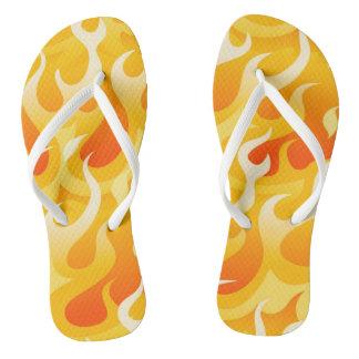 Hot flames flip flops