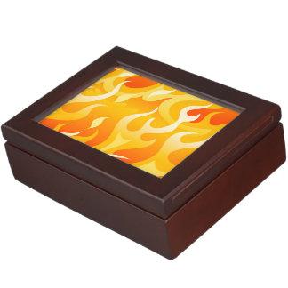 Hot flames keepsake box