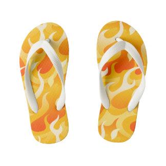 Hot flames kid's flip flops