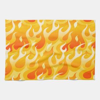Hot flames kitchen towel