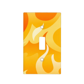 Hot flames light switch cover