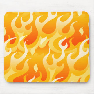 Hot flames mouse pad