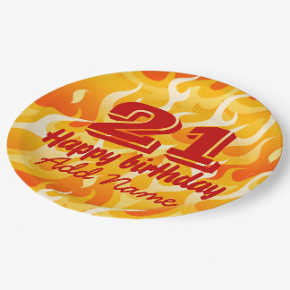 Hot flames paper plate