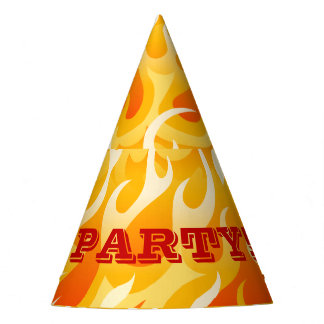 Hot flames party hat