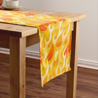 Hot flames short table runner