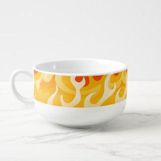 Hot flames soup mug