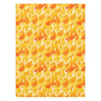 Hot flames tablecloth