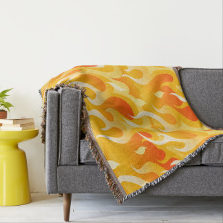 Hot flames throw blanket