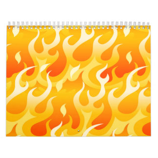 Hot flames wall calendars