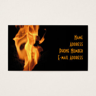 Hot Flaming Business Card