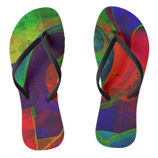 """HOT FLIP FLOPS 4"" ABSTRACT FLIP FLOPS"
