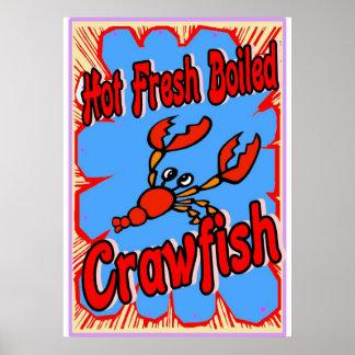 Hot Fresh Boiled Crawfish Sign