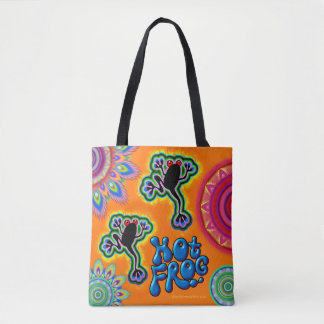 Hot Frog psychedelic Tote bag