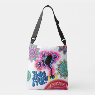 Hot Frog Surf psychedelic cross body bag