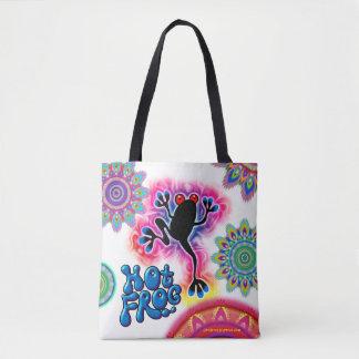 Hot Frog Surf psychedelic Tote bag