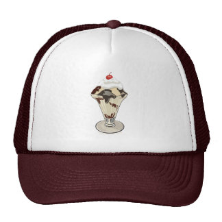 Hot Fudge Sundae Dessert Ice Cream Hat
