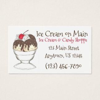 Hot Fudge Sundae Ice Cream Shoppe Business Cards