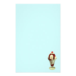 Hot Fudge Sundae Retro Stationery