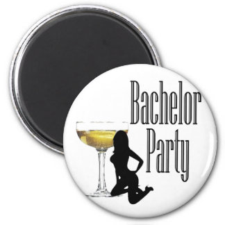 Hot Girl champagne Bachelor Party Gear Fridge Magnets