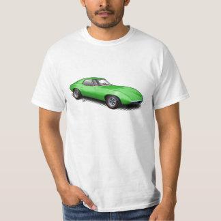 Hot Green 1965 Banshee Prototype on White T-Shirt