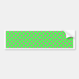 hot green and pink polka dots bumper stickers