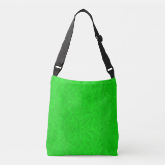 Hot Green Mosaic Tiles Pattern, Crossbody Bag