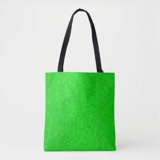Hot Green Mosaic Tiles Pattern, Tote Bag