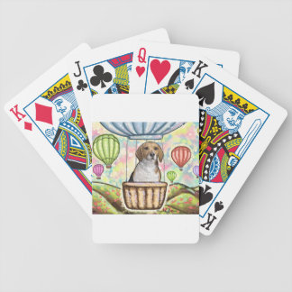 -hot hair balloon bicycle playing cards