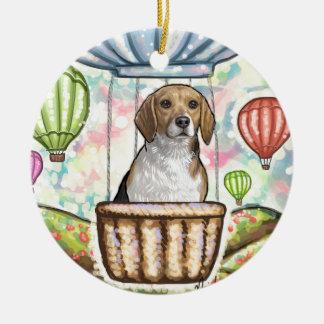 -hot hair balloon ceramic ornament