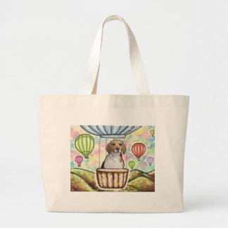 -hot hair balloon large tote bag