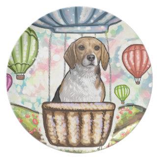 -hot hair balloon plate