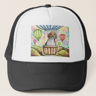 -hot hair balloon trucker hat