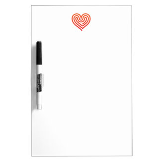 Hot Heart Dry Erase Board