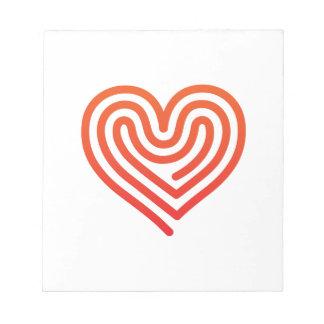 Hot Heart Notepad