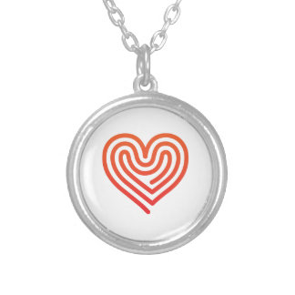 Hot Heart Silver Plated Necklace