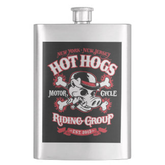 Hot Hogs™ Classic Back Patch Flask