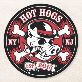 Hot Hogs™ Classic Black Coasters