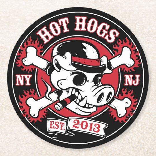 Hot Hogs™ Classic Black Coasters