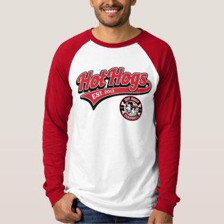 Hot Hogs™ Classic Mens Red Baseball Shirt