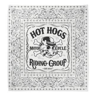 Hot Hogs™ Classic White Bandana