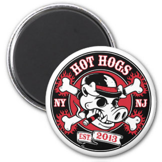 Hot Hogs™ Round Magnet
