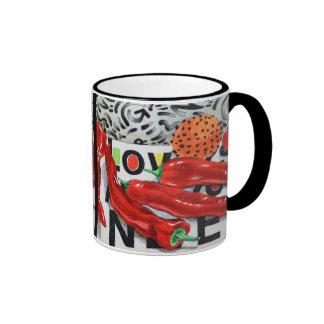 Hot Hot Hot Love Ringer Coffee Mug