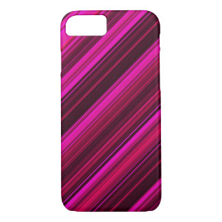 Hot Hot Pink and Red Stripes iPhone 7 Case