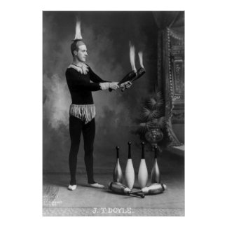 Hot Juggler, early 1900s Poster